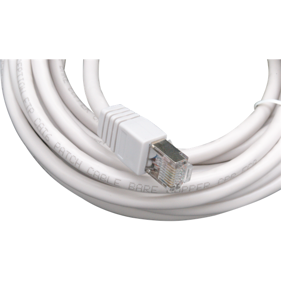 1m Solid Copper FTP CAT6 Patch Lead Grey