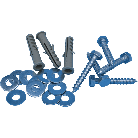 M8 x 50mm Fixing Kit M8 Coach Bolt, M10 Rimmed Plug & Washer Bag all parts separately  Washer is Form C.