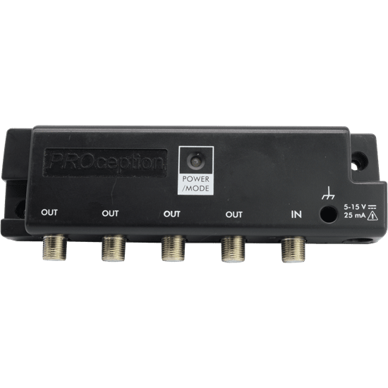 4-Way UHF Dual Mode Amplifier (X-Series) Line Powered with Return Path; 1 Input; 4 Output-4dB