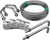 Extended Repair Kit-7.5m lashing wire coil, 2 Large V Bolt 2.5