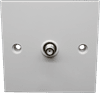 Single F Type Flush Mount Outlet Plate