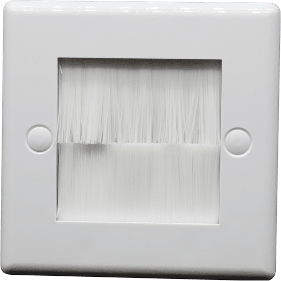 1 Gang White Brushed Face Plate
