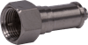 DC Blocked F Male Terminating Connector 75 Ohm