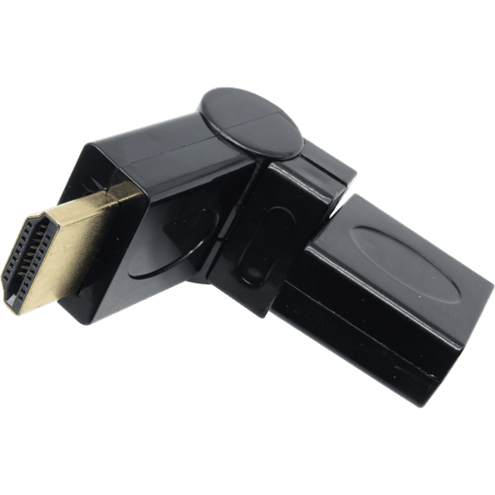 360 x 180 degree Dual HDMI Swivel Adaptor Female/Male Gold. Useful for restricted areas and preventing kinks/damage UHD.