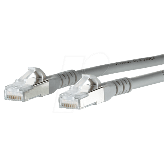 20m Solid Copper FTP CAT6 Patch Lead Grey