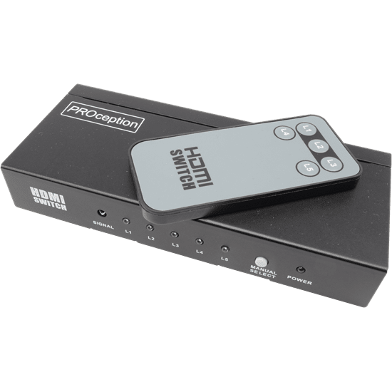 5 Way Remote Control HDMI 1.4b Switch enables you to watch multiple devices on one screen; 5 Input; 1 Output