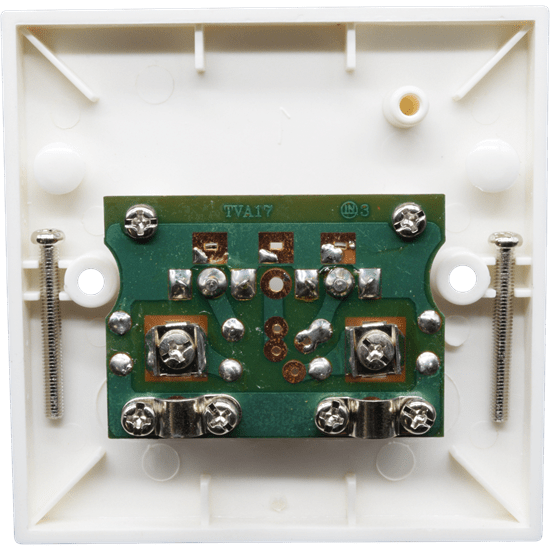 Twin Coax Flush Mount Outlet Plate