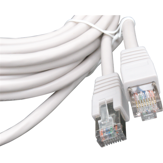 5m Solid Copper FTP CAT6 Patch Lead Grey