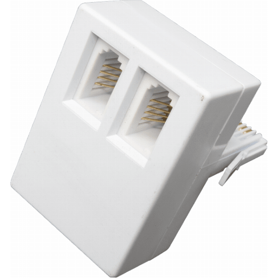 Telephone Double Adapter Self Kroning