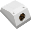 Single Coax Surface Mount Outlet Box - skirting board/window sill outlet