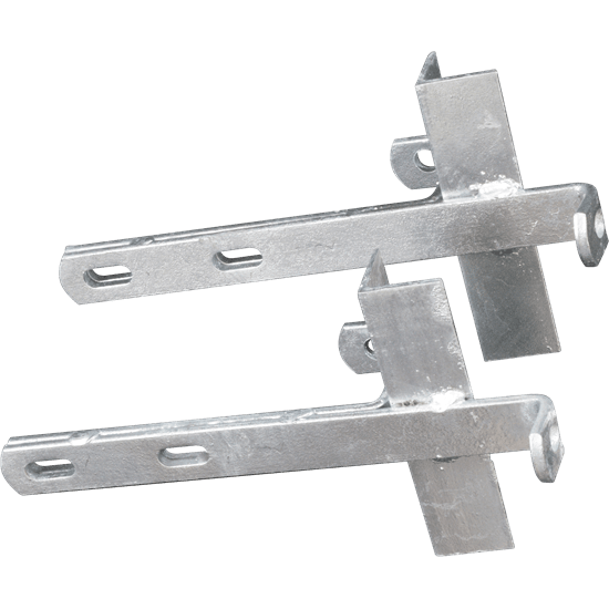 Pair of Double Welded HD Chimney Brackets Galvanized
