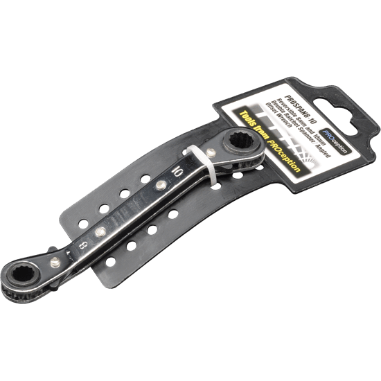 Reversible 8mm and 10mm Double Ratchet Spanner/ Angled Offset Wrench.