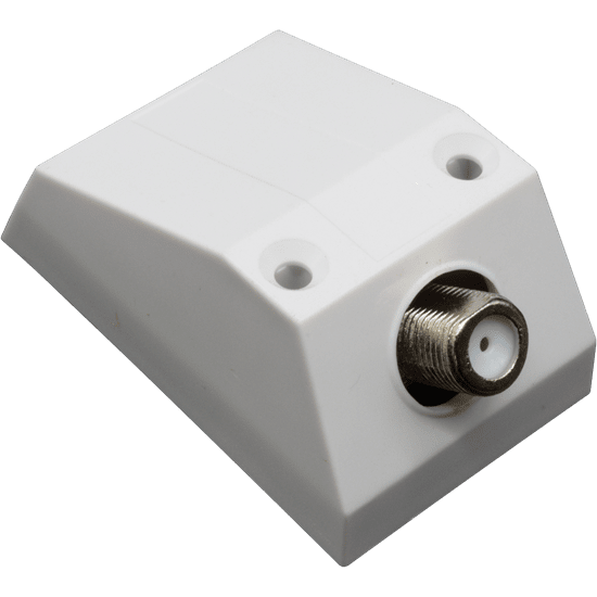Surface F Socket Outlet Box - skirting board/window sill outlet